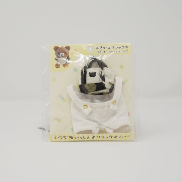 2018 White Overalls and Bear Bag Plush Outfit - Always Together Rilakkuma
