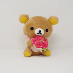 2013 Rilakkuma with Bouquet  Plush - Rilakkuma Store Limited Rose Theme