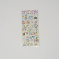Sticker Sheet - Mamegoma Cafe B. Pink