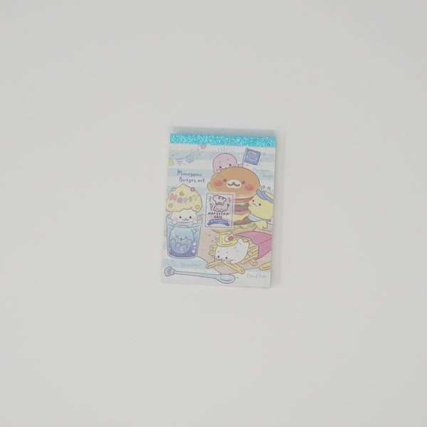 Mini Memo Pad - Mamegoma Cafe - Blue Binding