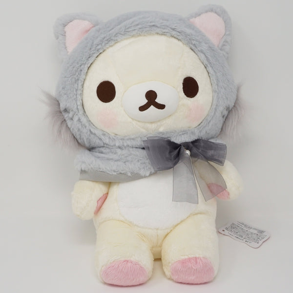 2017 Grey Cat Korilakkuma (Medium) Plush - Cat Theme