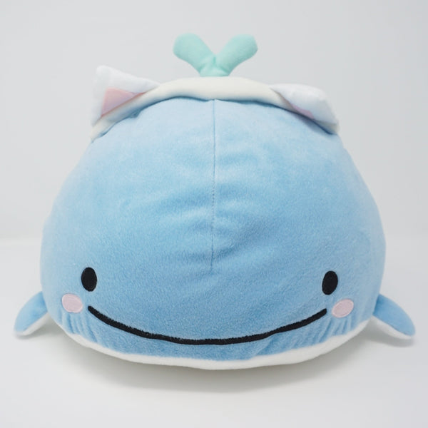 Kokujira Baby Whale with Cat Ears (Prize Toy) XL Plush - Jinbesan & Seaweed Neko Theme