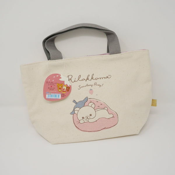2018 Rilakkuma with Strawberry Mini Tote Bag - Strawberry Party