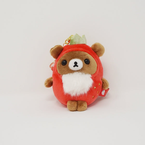 2018 Chairoikoguma in Strawberry Costume Plush Keychain - Strawberry Party