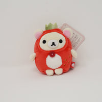 2018 Korilakkuma in Strawberry Costume Plush Keychain - Strawberry Party