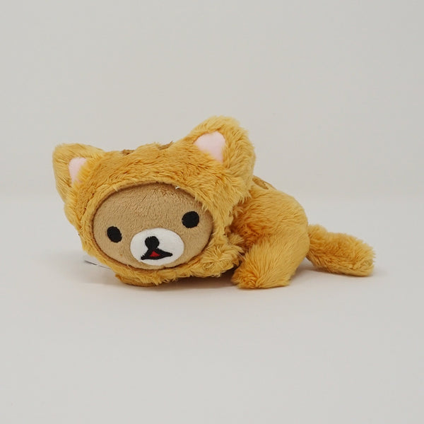 2014 Lying Rilakkuma with Cat Costume (Small) Plush - Cat Theme