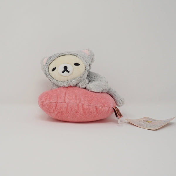 2014 Korilakkuma Grey Cat Costume with Pink Cushion (Loft Limited) Plush - Cat Theme
