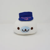 White Mamegoma Super Mochi Plush with Cafe Staff Outfit Super Mochi Plush - Mamegoma Cafe