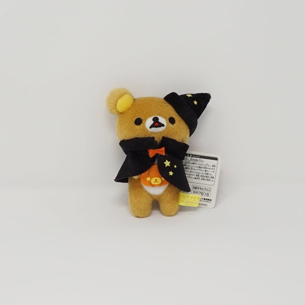 2014 Rilakkuma with Halloween Black Hat and Cape (Prize Toy) Plush Keychain