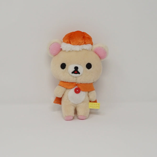 2013 Korilakkuma with Pumpkin Hat and Cape (Prize Toy) Plush Keychain