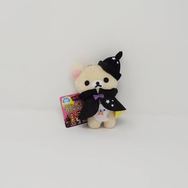 2014 Korilakkuma with Halloween Black Cape and Hat (Prize Toy) Plush Keychain