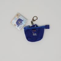 2018 Rilakkuma Blue Tote Bag Plush Keychain - Always Together Rilakkuma