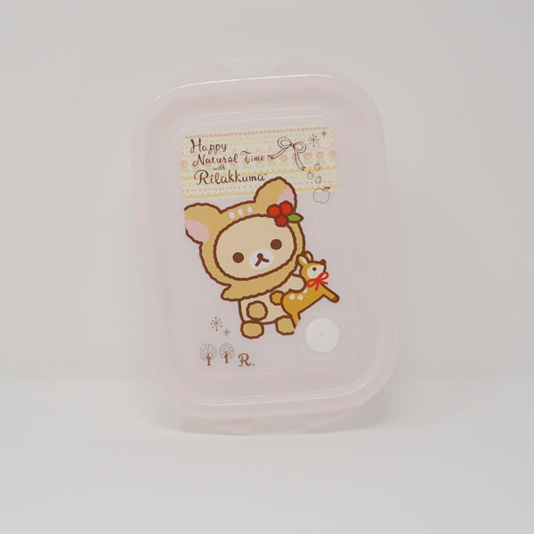 2013 Clear Storage Box (Pink)  - Happy Natural Time Rilakkuma