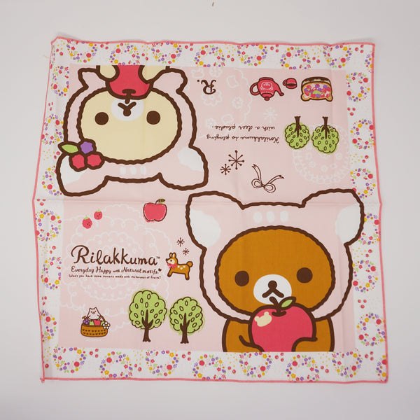 2013 Natural Time Napkin  - Happy Natural Time Rilakkuma