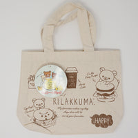 Deli Theme Mini Tote Bag - (Brown) Latte & Burger (Rilakkuma Kuji)