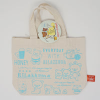 Deli Theme Mini Tote Bag - (Blue) Everyday with Rilakkuma (Rilakkuma Kuji)