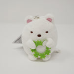 Shirokuma with Lucky Clovers Plush Keychain - Neko Siblings Theme