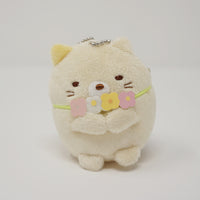Neko with Flower Necklace Plush Keychain - Neko Siblings Theme