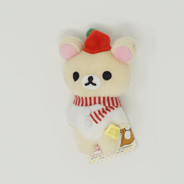 2015 Korilakkuma with Striped Scarf Christmas Outfit Prize Toy Plush Keychain - Christmas