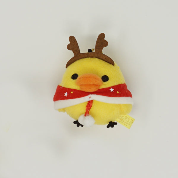 2014 Kiiroitori with Antlers Prize Toy Plush Keychain - Christmas