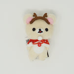 2014 Korilakkuma with Antlers & Red Cape Prize Toy Plush Keychain - Christmas