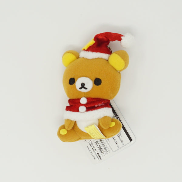 Rilakkuma with Red Cape and Yellow Star Hat Prize Toy Plush Keychain - Christmas