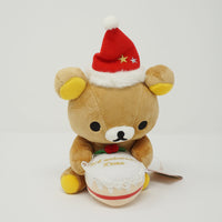 2006 Rilakkuma Sitting with Christmas Cake 3rd Anniversary Plush - Christmas Rilakkuma Store Limited
