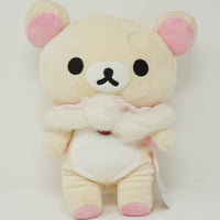 Korilakkuma with Fluffy Pink Cape (Big) Plush - 711 Limited Pink Snow