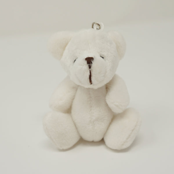 White Plush Bear Keychain