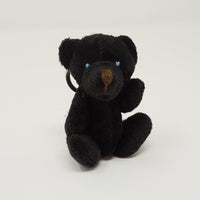 Black Plush Bear Keychain