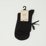 Ladies Socks - Black with Ribbon