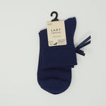 Ladies Socks - Navy with Ribbon
