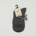 Ladies Socks - Grey with Ribbon