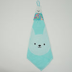 Blue Rabbit Hand Towel