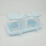 Kitchen Condiment Case with Lid - Blue