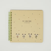 Spiral Scrapbook Notebook - Panda