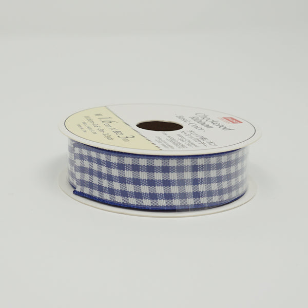 Blue Gingham Ribbon - Standard Size