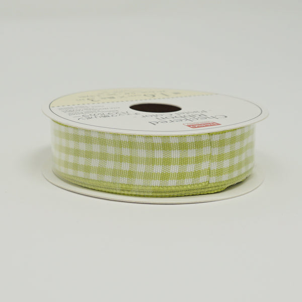 Green Gingham Ribbon - Standard Size