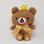 Big Chairoikoguma & Bee Fuzzy Prize Plush with Bow - Rilakkuma Prize Toy