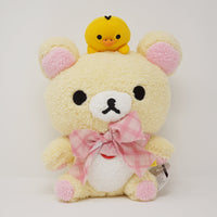 Big Korilakkuma & Kiiroitori Fuzzy Prize Plush with Bow - Rilakkuma Prize Toy