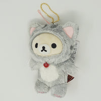Grey Cat Keychain - Rilakkuma Cat Theme