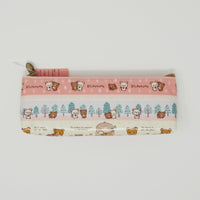 2016 Chairoikoguma Zipper Pen Pouch  - Gloves Gift Theme - Rilakkuma