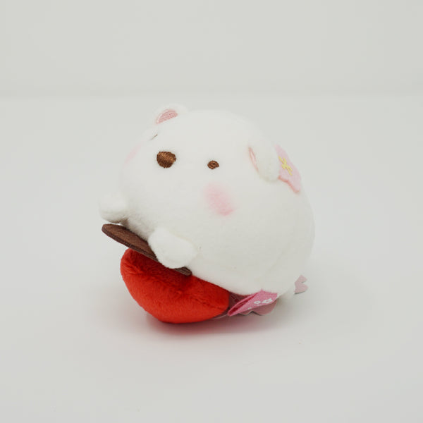 2018 Shirokuma Strawberry Daifuku Super Mochi Plush - Daifuku Series Sumikkogurashi