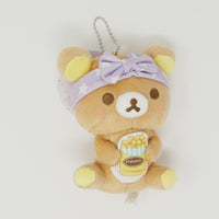 Rilakkuma with Popcorn - Rilakkuma Pajama Party Plush Prize Keychain  -