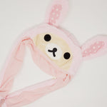 Pink Rilakkuma Bunny Hat with Moving Ears  - Rilakkuma Prize Goods