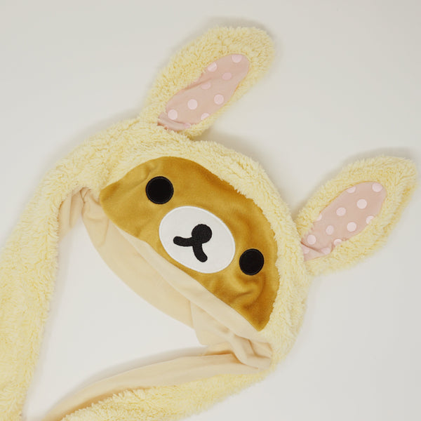 Yellow Rilakkuma Bunny Hat with Moving Ears  - Rilakkuma Prize Goods
