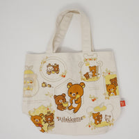2017 Chairoikoguma Mini Tote Bag - Harvest Festival in the Honey Forest Theme - Rilakkuma
