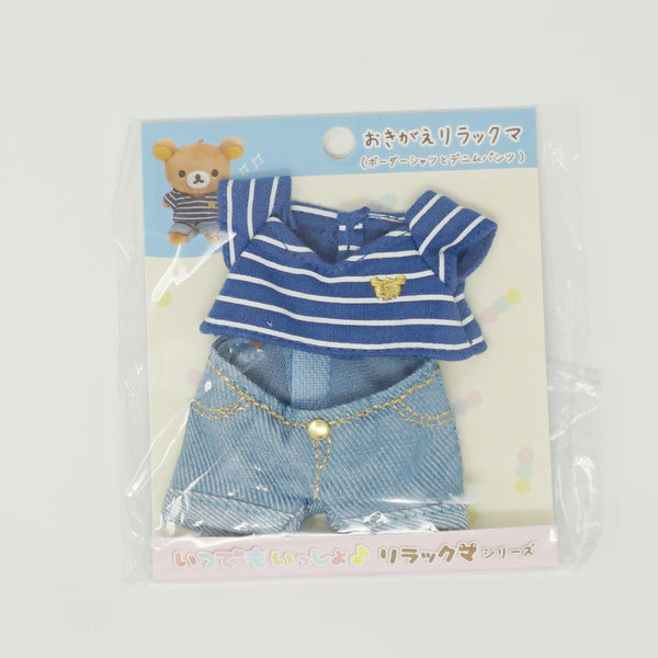 Striped Tee and Jeans Plush Outfit - Always Together Rilakkuma