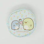 2018 Penguin? and Real Penguin Round Zipper Pouch - Pen Pen Ice Cream Theme - Sumikkogurashi Lottery Prize