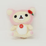 2013 Pink Korilakkuma Sitting Deer Prize Plush - Rilakkuma Happy Natural Time